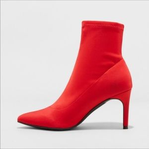 A New Day Red Cady Sock Booties NWT!
